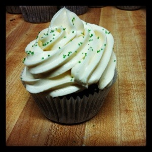 Chocolate Stout Cupcake with Whiskey Ganache and Bailey's Frosting