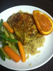 Pan-Roasted Chicken with Oranges and Rosemary