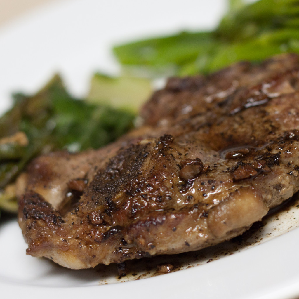 Balsamic lamb chop