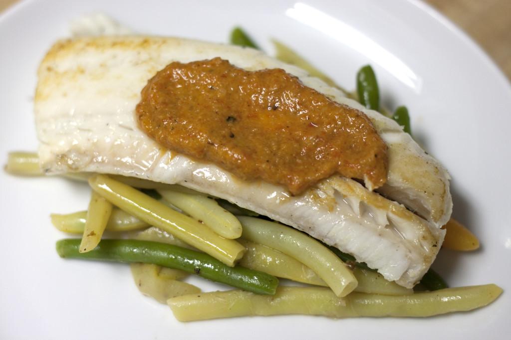 Haddock romesco